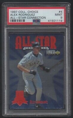 1997 U.D. Collector's Choice All-Star Connection #4 Alex Rodriguez PSA 9 MINT