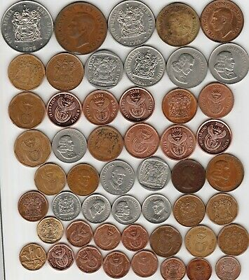41 different world coins from SOUTH AFRICA
