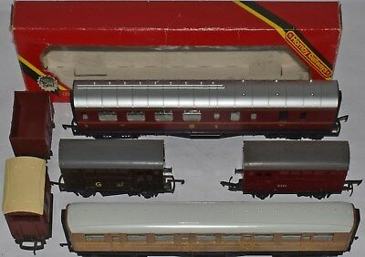 used 178 2 X Triang/hornby Teak Passenger Coaches Oo