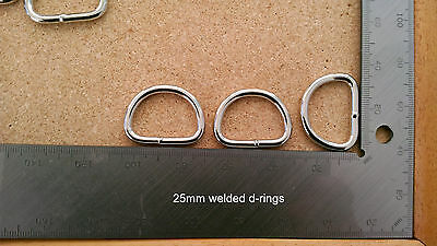 "Welded metal d-rings 25mm (1"") 4mm thick"