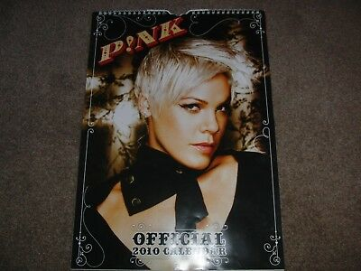Pink A3 Official Calendar 2010 Used
