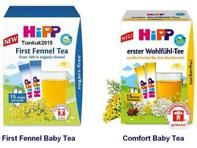 HiPP Baby Fennel/ Comfort Tea x15 sashes, STOP Colic,FREE SUGAR,Select of 2: