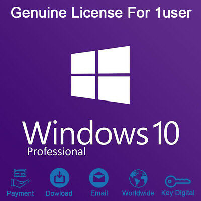 Windows 10 professional 32/64bit Licence Key Download Genuine