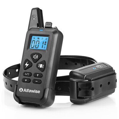 Alfawise 3-in-1 Pet Dog Training Collar Waterproof Remote Control USB 3 Modes