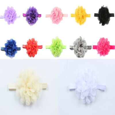 12 Color Chiffon Flower Kid Baby Girl Headband Head Wear Hairband Hair Acces XRT