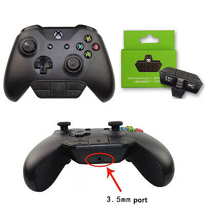 Stereo Headset Headphone Audio Gaming Adapter for Microsoft Xbox One Controller
