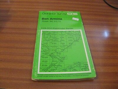 Ben Armine Nc 62/72 1:25 000 Pathfinder Series Ordnance Survey Map