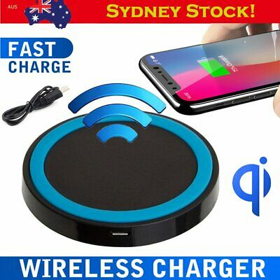 Wireless Charger Qi Fast Charging Pad Receiver for iPhone X XS XR Samsung S8 S9