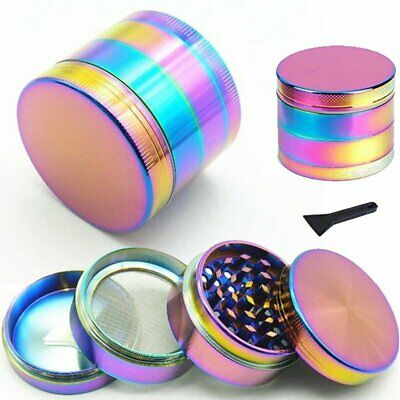 4-Layers Metal Zinc Alloy Tobacco Herb Grinder Hand Muller Smoke Crusher Scraper