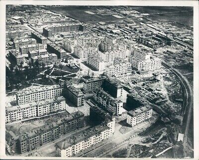 1931 Press Photo Aerial Apartment Buildings 1930s Moscow Russia
