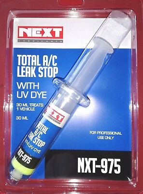 Aircon A/C Stop Leak Sealer With Uv Dye Syringe 30Ml *Made In Usa*