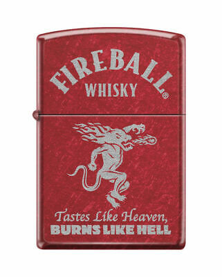 BRIQUET ZIPPO ESSENCE NEUF - FIREBALL WHISKY ROUGE ( Original , Tempete )