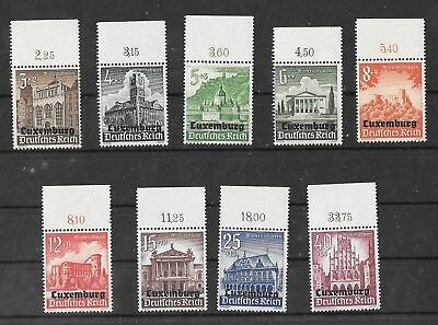 Third Reich Germany Occupation  Of Luxemburg Mnh  Surcharged