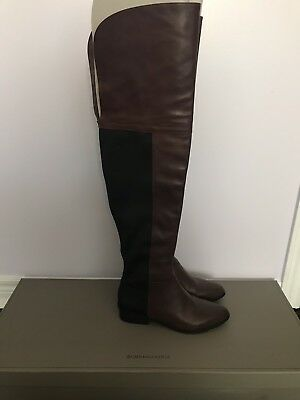 0ec3f217356 BCBG MAXAZRIA SLINK Over-The-Knee Day Boot Brown Size 8 -  54.95 ...