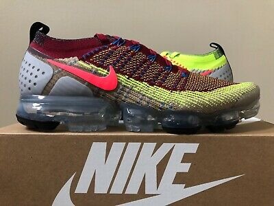 """Nike Air Vapormax Flyknit 2 Random """"WHAT THE"""" Multicolor CJ0066-900 Size 5.5-12"""
