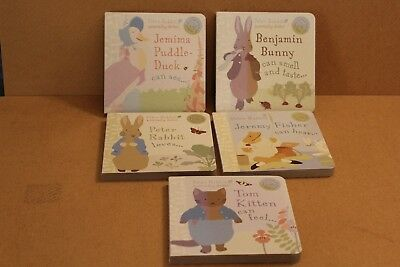 PETER RABBIT NATURALLY BETTER HARDBOARD BOOKS  x 5 WITH JEMIMA  & FRIENDS