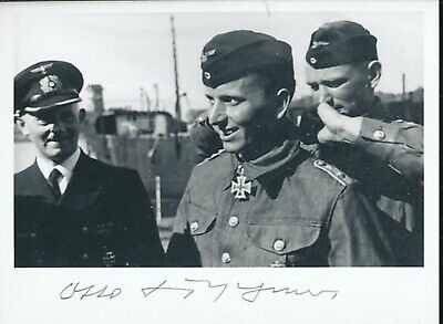 Otto Kretschmer signed award photo. THE KING!! Cpt U-23.99.Kriegsmarine.-U-Boat