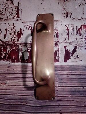 Antique Victorian Edwardian Old Solid Brass Pull Handle Pub Bar Salvaged