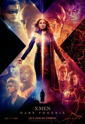 X - MEN DARK : PHOENIX - Affiche cinema 40X60 - 120x160 Movie Poster