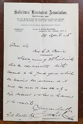 1925 Solicitors Benevolent Association, Stone Buildings, Lincolns Inn letter