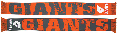 Greater Western Sydney GWS Giants AFL Supporters Acrylic Impact Jacquard Scarf!