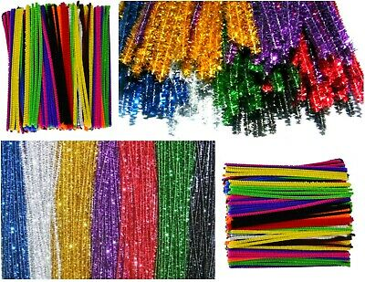 All Size & All Color Chenille Craft Stems Pipe Cleaners Kids Adult Craft Fun DIY