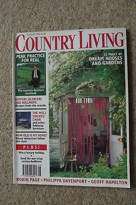 Country Living Aug 95 Country Doctors, Poole Harbour, Garden Statuary.