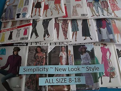 A Simplicity New Look Style ~ All Patterns Size 8-18 (8,10,14,16,18) U-PICK 6940