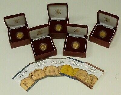 Gold Sovereigns From Royal Mint Historic Collection Series Victoria - Elizabeth