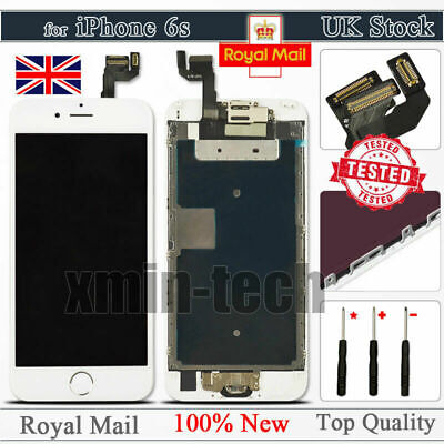 For iPhone 6S White Screen Replacement Digitizer LCD Touch Home Button Display