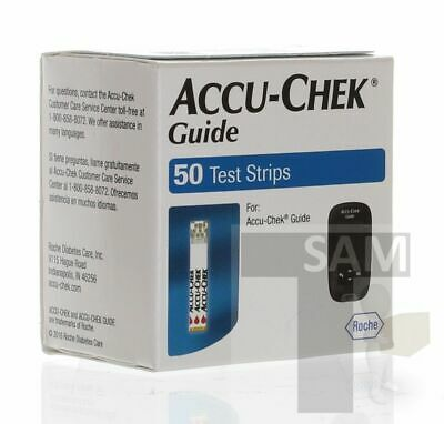 Accu-Chek Guide 50 Test Strips-Same Day Shipping- Exp 9+2019+(BGA) VG Condition