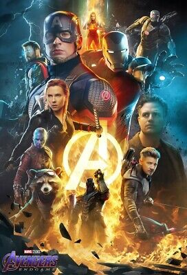 "Avengers End Game Poster 2019 Marvel Comics Movie Art Print 32x48 27x40"" 24x36"""