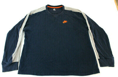 a99141e7 Vintage NIKE Mens Waffle Knit Long Sleeve Two Tone Thermal Shirt Size large