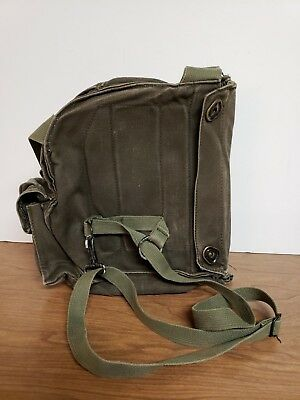 Us Military Vintage Vietnam Era Gas Mask Bag M17A1 Used Canvas Bag Only