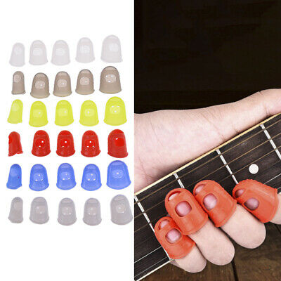 5X Silicone Finger Cot for Play the Guitar Protect Finger Prevent Press Pain UK