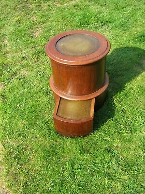 Rare Victorian Commode - Circular with Lift Top and Integral Foot Rest, with Pot