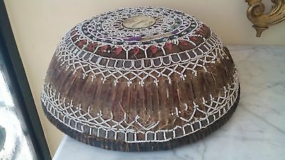 Beautiful Antique Very Rare Hand Made Basket Lid From Bali,Indonesia