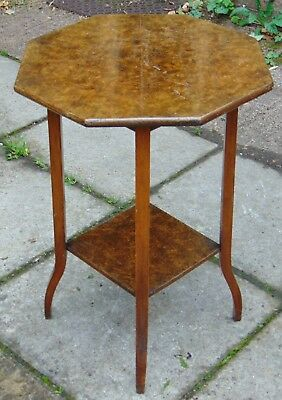 Edwardian 2 Tier Occasional Table with Burr Walnut Veneer Top