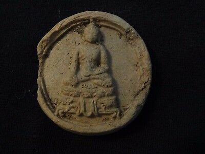 Antique Mongolian Tibetan Buddhist Clay Tsa Tsa