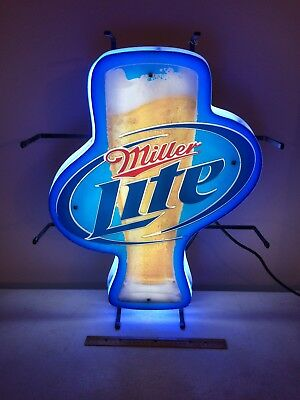 NEW YORK GIANTS Miller Lite Salutes Super Bowl Xxi -- Lighted Sign