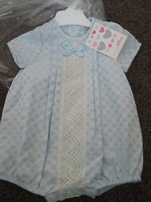 NEW baby Unisex ALBER Spanish Romper blue Size 6 Mths Small Fit