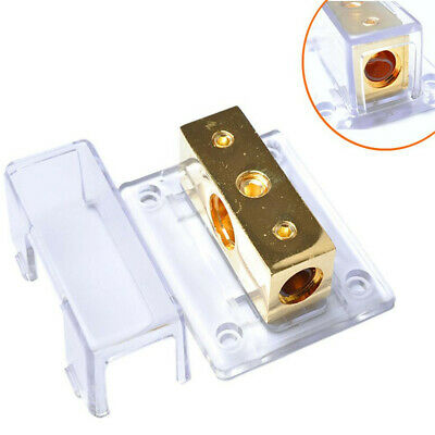 A4A Power Distribution Block 1x0GA In 2x0GA Out Amp Installation Car Audio PD033