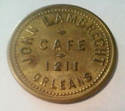 John Lambrecht Cafe Detroit 10 Cents In Trade Vintage Token Great For Collection