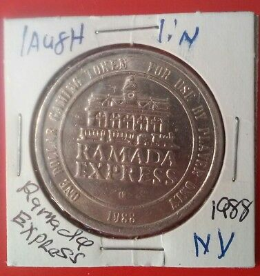 1988 Ramada Express Casino Laughlin Nevada Vintage Logo $1.00 Gaming Slot Token!