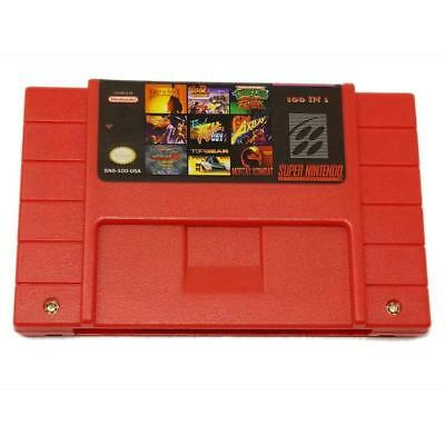 Super 100 in 1 Game Cartridge For Super Nintendo SNES 16-Bit Multicart NTSC SNES
