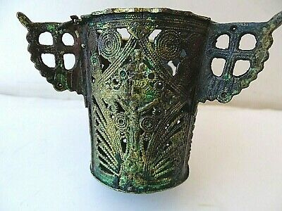 Authentic Orthodox Hanging bronze/brass Oil Candle holder Lamp Byzantine CAN5