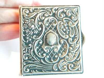 antique silver note pad little book covers   other purpose richly decorated