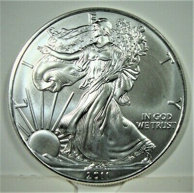 BRILLIANT!!!!!!  2011 Silver Eagles Singles from an 8 year old Mint Roll