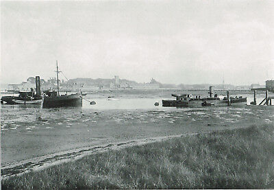 Yarmouth Isle Of Wight General View 1900 Antique Old Picture Print ROC#157