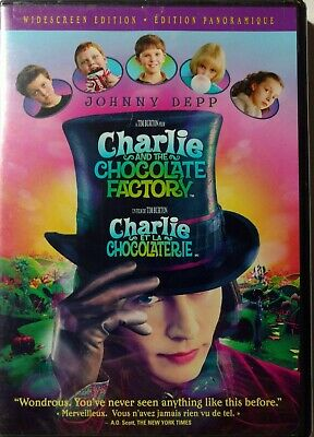 Charlie and the Chocolate Factory (DVD, 2005) Bilingual FREE SHIPPING IN CANADA